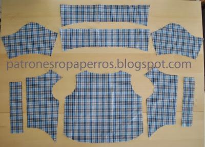 camisa perro sin coser