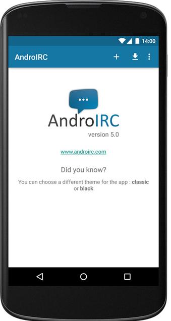 AndroIRC premium v5.0