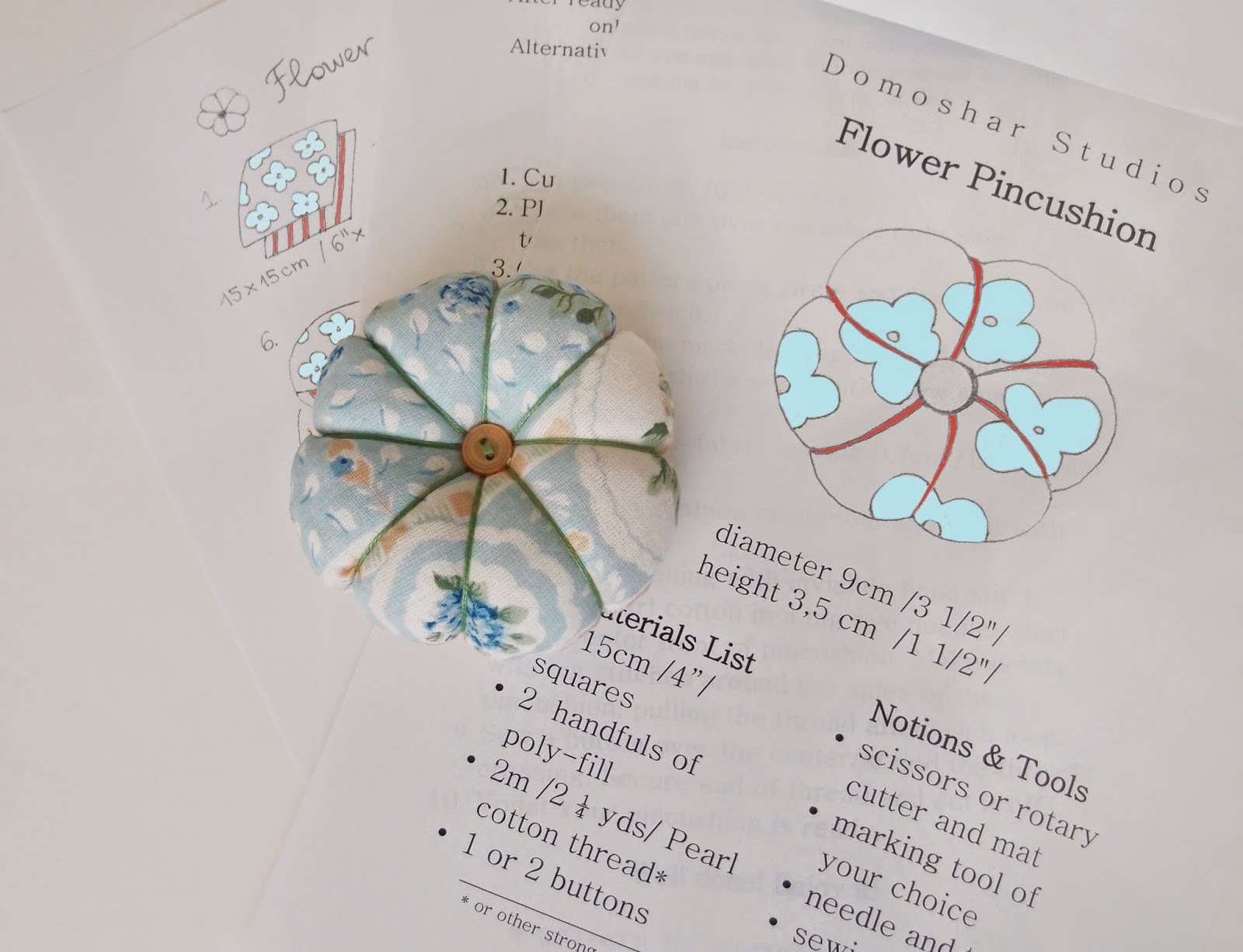 Flower Pincushion PDF Pattern Giveaway