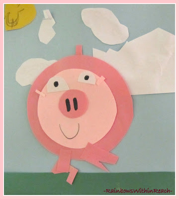 photo of: This Little Piggy Art Project: Concentric Circles in Children's Art