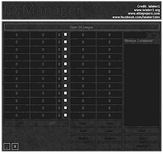 iD Manager No Need Bypass S4 League Hile v02.11.2013 indir