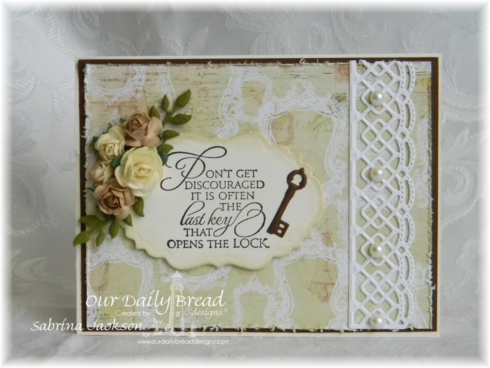 Stamps - Our Daily Bread Designs Key to Heaven, ODBD Custom Vintage Labels Die, ODBD Custom Beautiful Borders Dies, ODBD Custom Fancy Foliage Dies