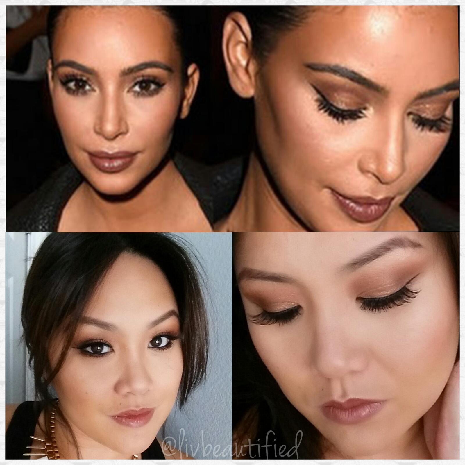 Kim Kardashian Inspired Makeup Givenchy Fashion Show