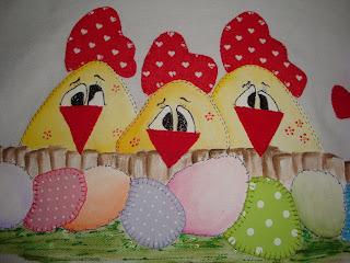 Passo a passo das galinhas com seus ovinhosVeja as fotos