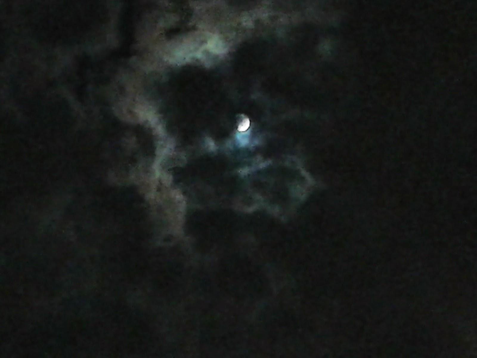 Foto tomada durante el eclipse