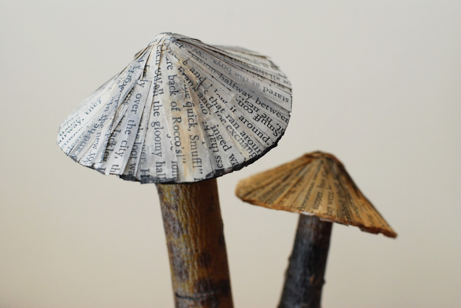 That artist woman papier mache mushrooms for How to make a sculpture out of paper mache