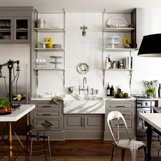 Open Shelf Kitchen Cabinet: BYE BYE WHITE - HELLO DARK KITCHEN CABINETS!
