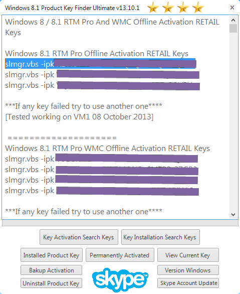 product key for windows 8.1 enterprise build 9600