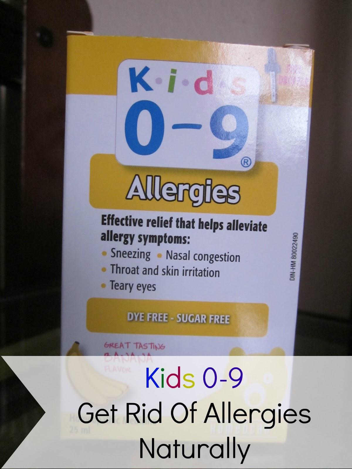 kids 0-9 allergies