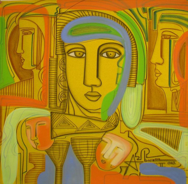 Cuadros modernos cuadros modernos acr licos de figura humana - Cuadros de acrilico ...