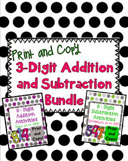 http://www.teacherspayteachers.com/Product/Triple-Digit-Addition-and-Subtraction-Bundle-1044204