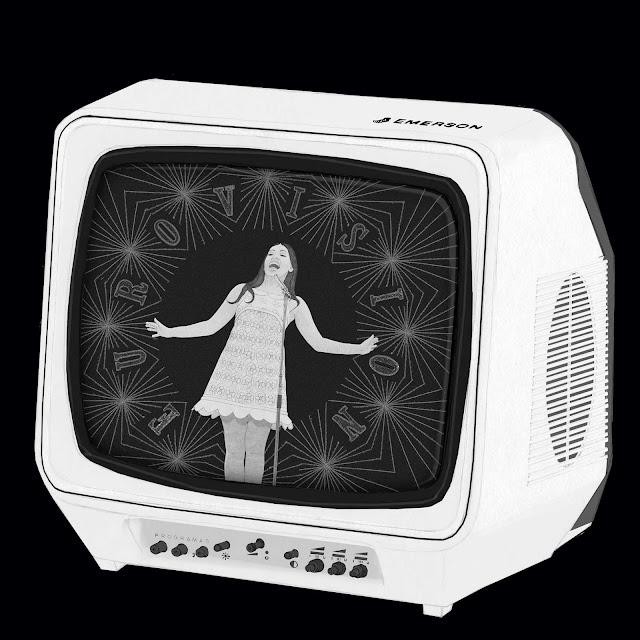 television, Emerson, Eurovision, La la la, Massiel, 1968, icono, dibujo