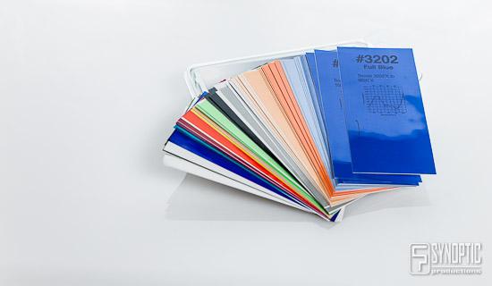 Synoptic Productions : Test gels Strobist Collection par Rosco
