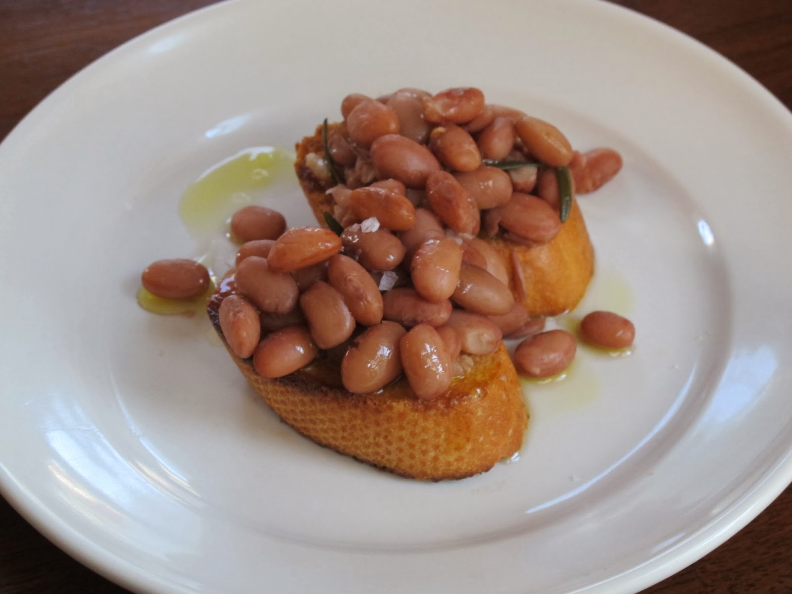 Borlotti Beans on Garlic Toast