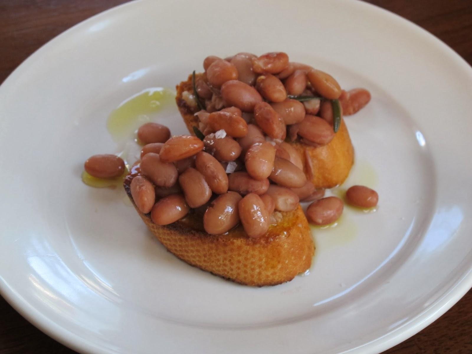 Borlotti Beans on Garlic Toast