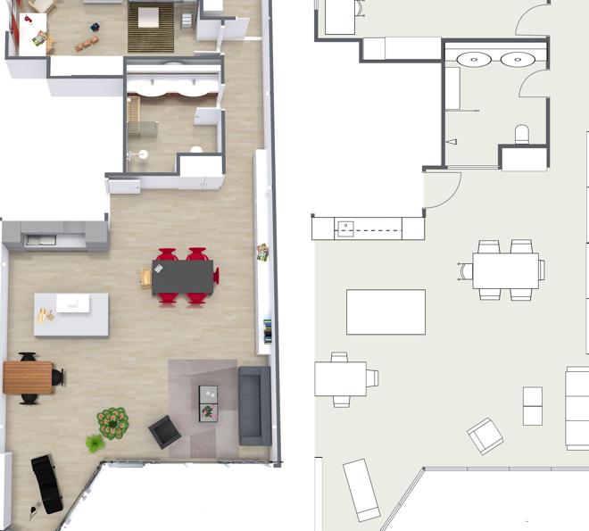 grundriss zeichnen m bel verschiedene ideen f r die raumgestaltung inspiration. Black Bedroom Furniture Sets. Home Design Ideas