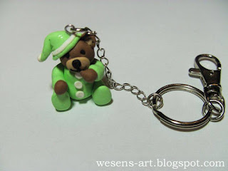 Polymer Clay Bear      wesens-art.blogspot.com