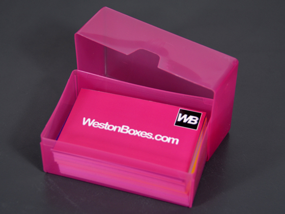 Plastic Boxes & Storage Solutions Plastic Business Card Boxes
