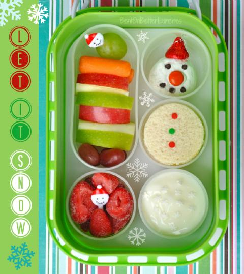 Snowman Yubo Bento School Lunch