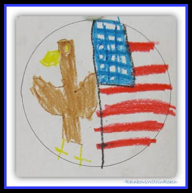 Patriotic Drawing for Constitution Day