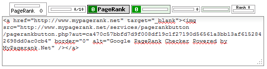 Gambar widget update pagerank