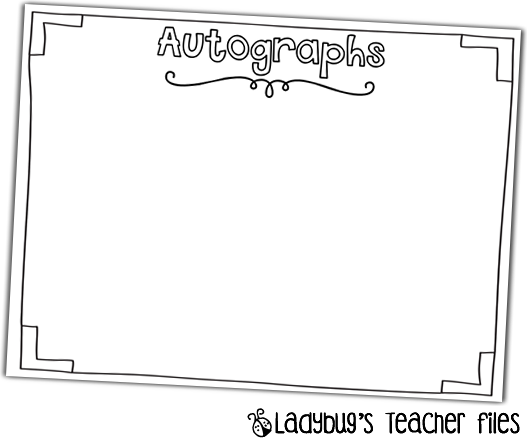 picture regarding Free Printable Autograph Pages known as Yearbook Printable! Ladybugs Instructor Documents