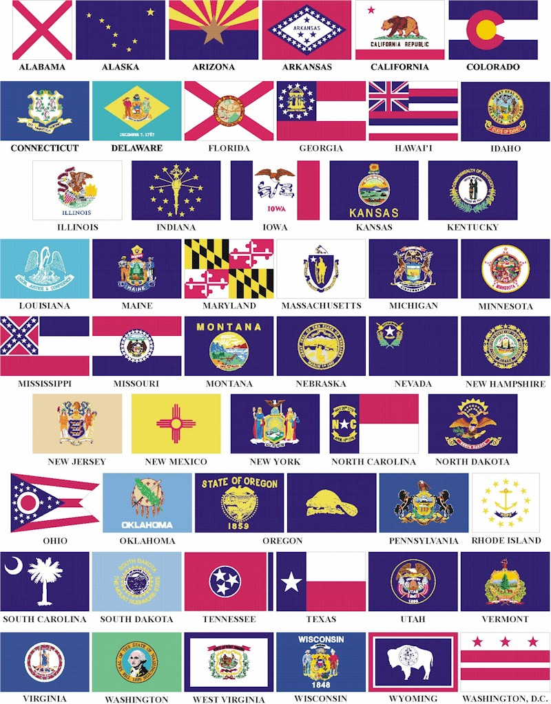 Am on trips i like to ask people what is your favorite state flag