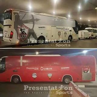 حافلة الزمالك المصري في الامارات
