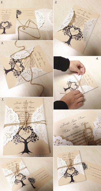 Diy. Invitación con Blondas.
