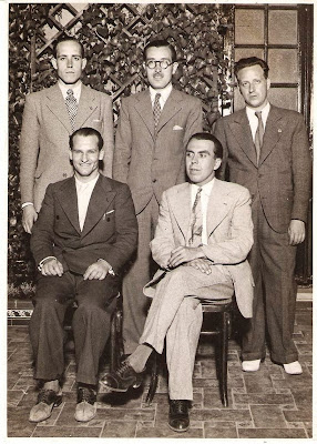 Àngel Ribera, Pere Cherta, Plàcid Soler, Jaime Casas y Joan Comas