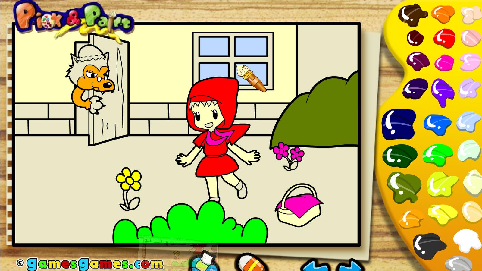 Juegos sencillos educacion especial juego de colorear cuentos - Programa para pintar ...