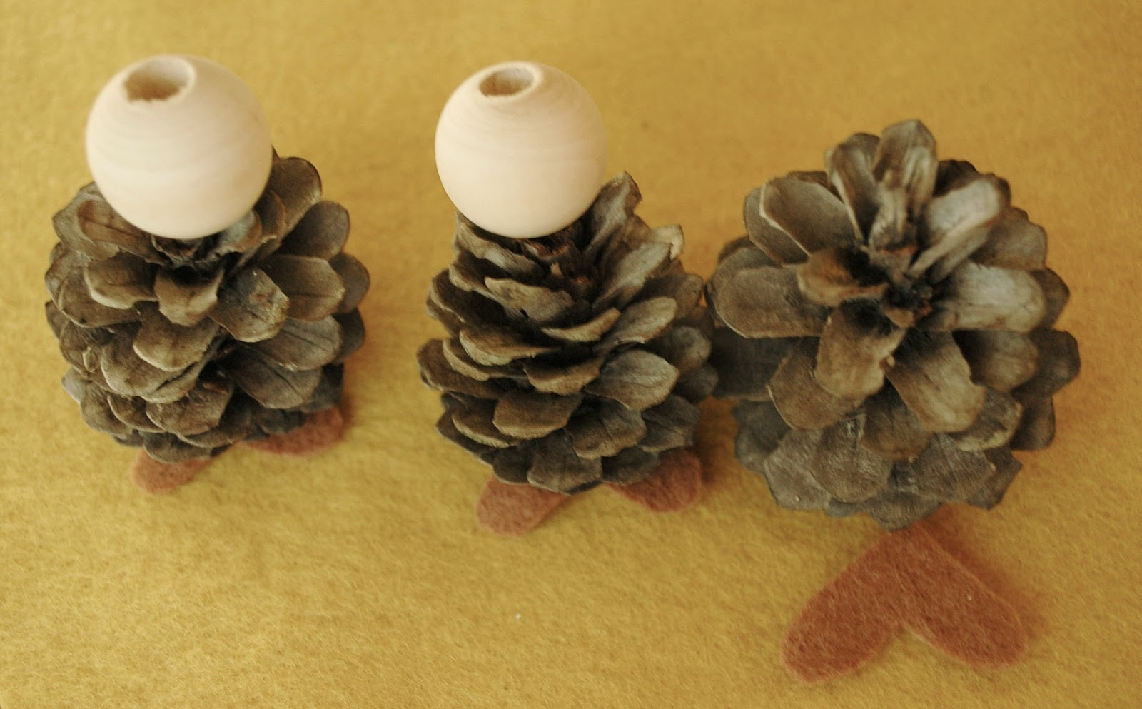 we bloom here: Pinecone Gnomes