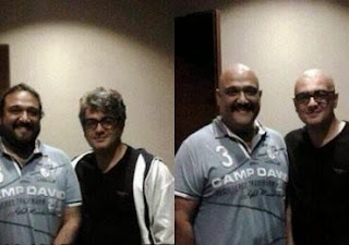 Actor Ajith and Director Shiva new look photo