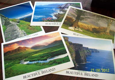 thats the way the cookie crumbles, blog, blogging, snail mail, mail, post, package, penpal, letter, outgoing, postcard, post card, view card, Ireland, beautiful Ireland