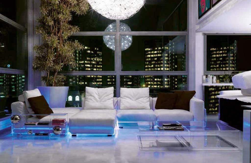 Decorative lighting living room modern blue circular models