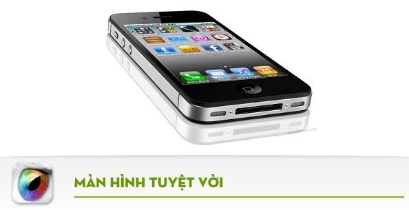 hkphone 4s 3g sở hứu màn hình đẹp tuyệt vời