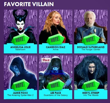 president snow hunger games mockingjay part one kids choice awards 2015