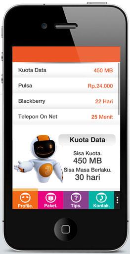 Info Profil Kartu Tri yang Ditampilkan Aplikasi BimaTri