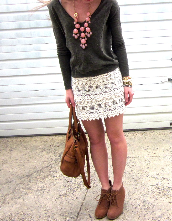 Crochet skirts and booties