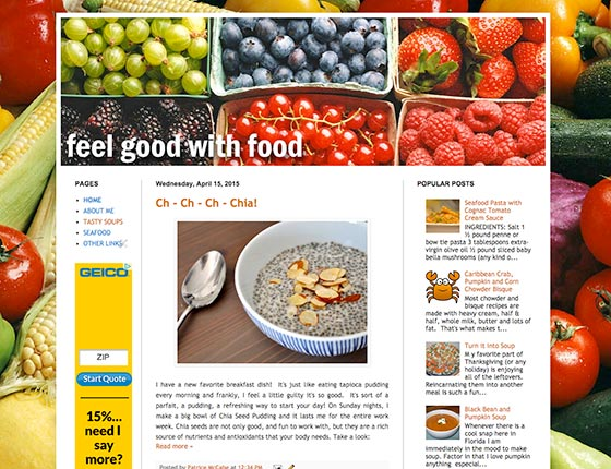 Visit Feel Good With Food Website