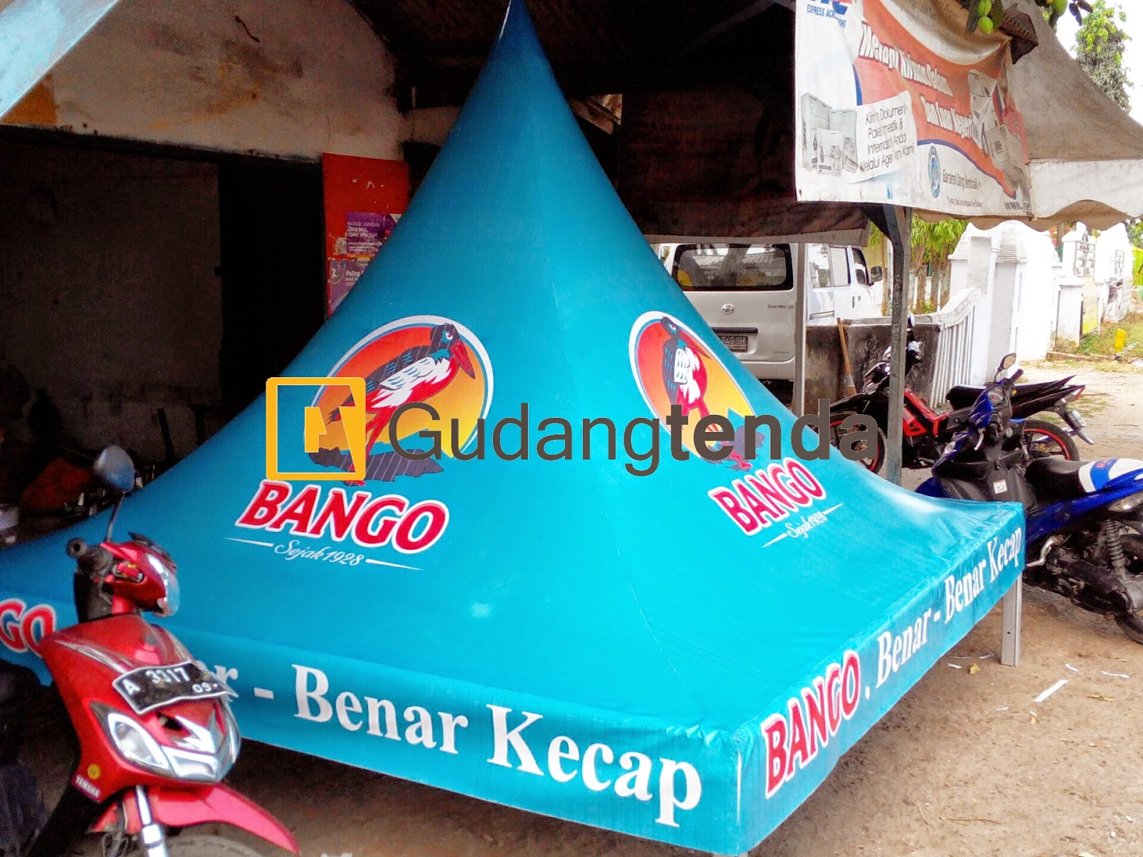 Sewa tenda sarnafil printing, sewa tenda promosi, Jual Tenda sarnafil