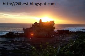 Tanah Lot a Hindu Temple in Bali Evening view 2012