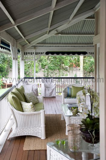 In my house house and garden for Homes with verandahs all around