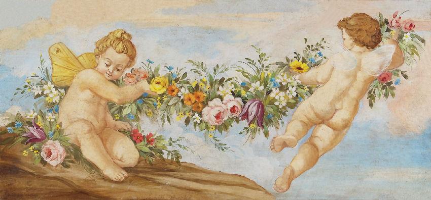 Angeli con il pennello l 39 evoluzione degli angeli for Quadri con angeli