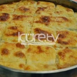 Ispanaklı Peynirli Kesme Börek Tarifi