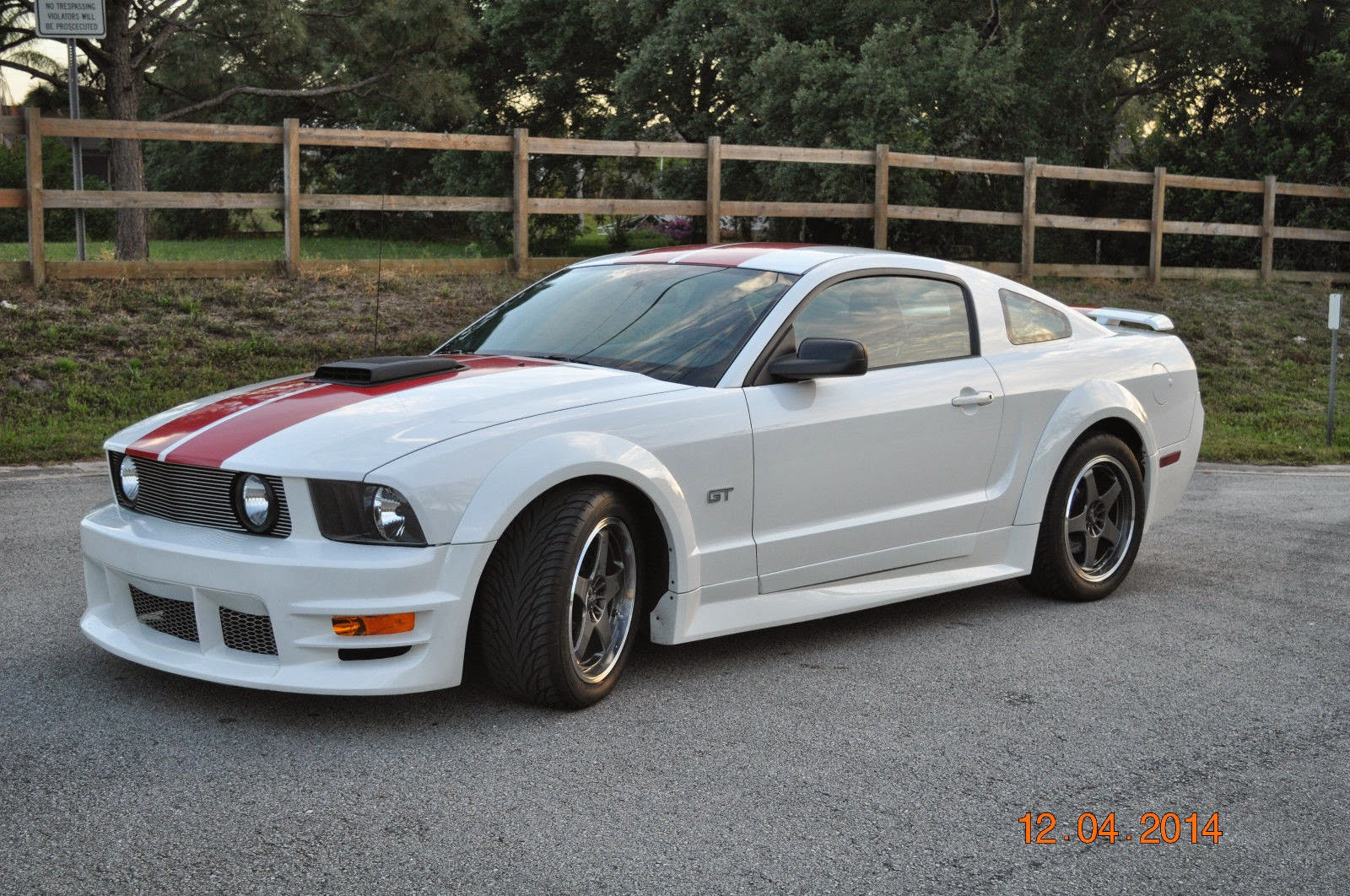 2005 ford mustang gt coupe premium vortech supercharged white with red trim and red leather interior low miles this car has only 9404 original miles