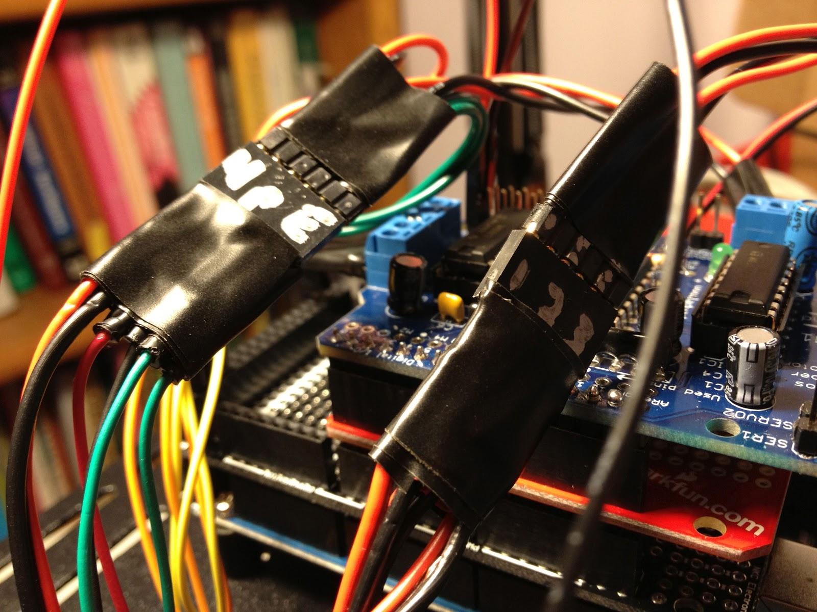 Arduino adventures driving the dfrobot around