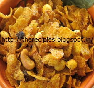 spicy chivda with corn flakes