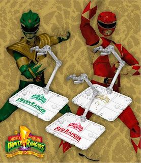 Bandai SDCC 2013 Exclusive SH Figuarts Power Rangers Stands Set