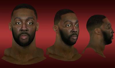 NBA 2K13 Andray Blatche Cyberface Mod